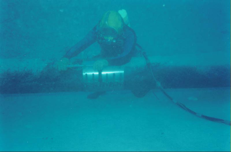 Underwater construction inspection diving